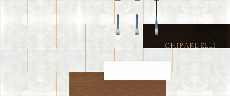 Reception Feature Wall Elevation
