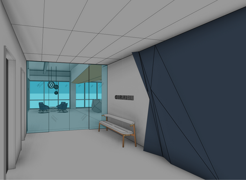 elevator lobby feature wall ideation