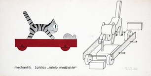 """V. Krasauskas """"Mechaninis žaislas: rainio medžioklė"""""""