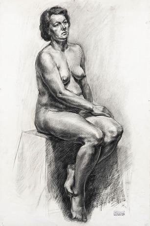 "Kęstutis Grigaliūnas ""Sėdinčios moters aktas"""