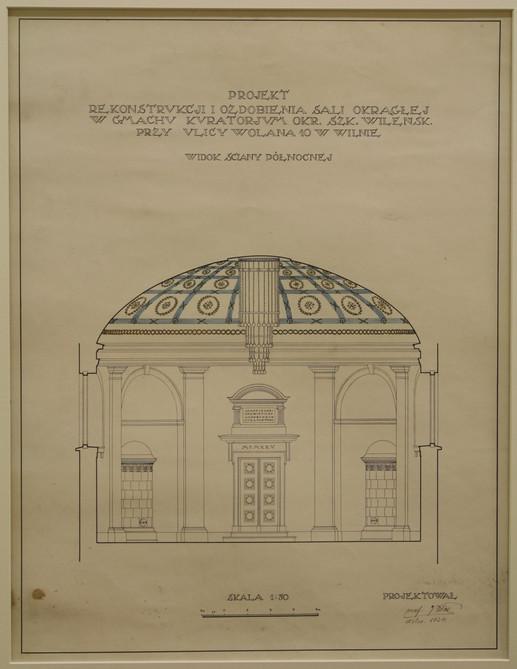Vilniaus apskrities mokyklos salės rekonstrukcijos planas 1924