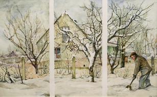 """Audrius Puipa (1960-1997) """"Sniego kasimas Fabijoniškėse"""""""