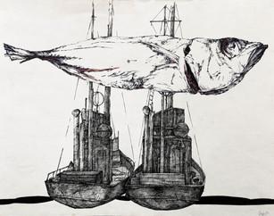 """Kęstutis Grigaliūnas """"Žuvis ir laivai"""""""