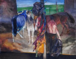 "Vidmantas Jusionis ""Kompozicija su arkliais"""