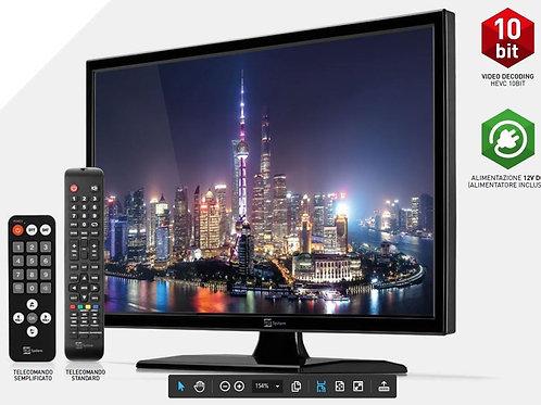 TV TeleSystem HD PALCO19 LED09 DVB T2/S2 HEVC 10 Bit senza Lettore DVD
