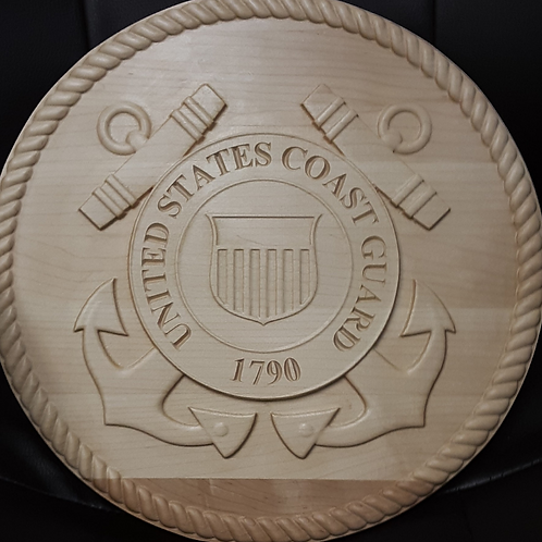 Military Service Plaque - U.S. Coast Guard