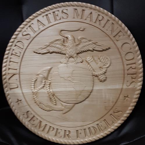 Military Service Plaque - U.S. Marine Corps