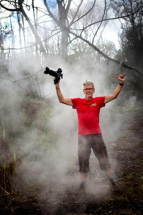 Schwefelwolken vom letzten Lava-Ausbruch