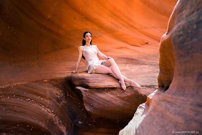 Waterholes-Canyons bei Page / Utah mit Rebecca