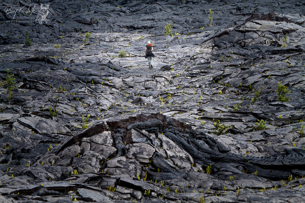 Allein, allein in den unendlichen Lava-Weiten