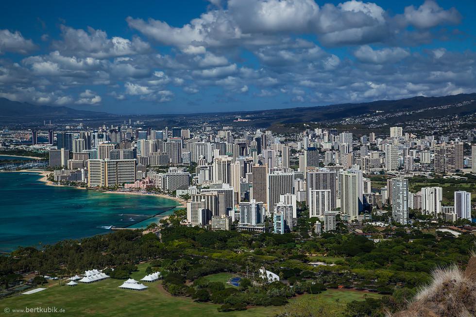 Honolulu - Blick vom Diamond Head