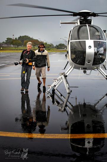 "Nach dem Lava-Rundflug mit ""Paradise Helicopters"""