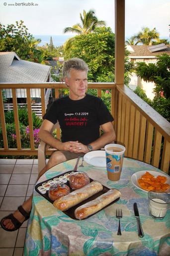 Frühstück in der Unterkunft bei Kailuna Kona