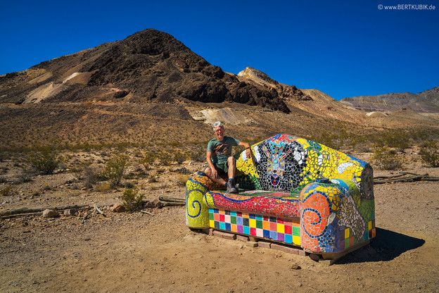 Goldwell Open Air Museum in Death Valley
