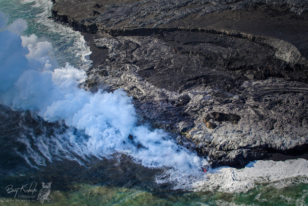 Lava-Landschaften auf Big Island beim Helicopter-Flug