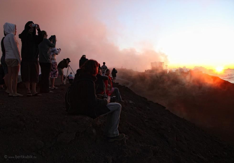 Sonnen-Untergang auf dem Haleakalea