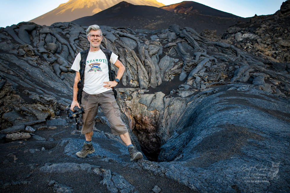 "Am Eingang zur ""Lava-Höhle 2"""