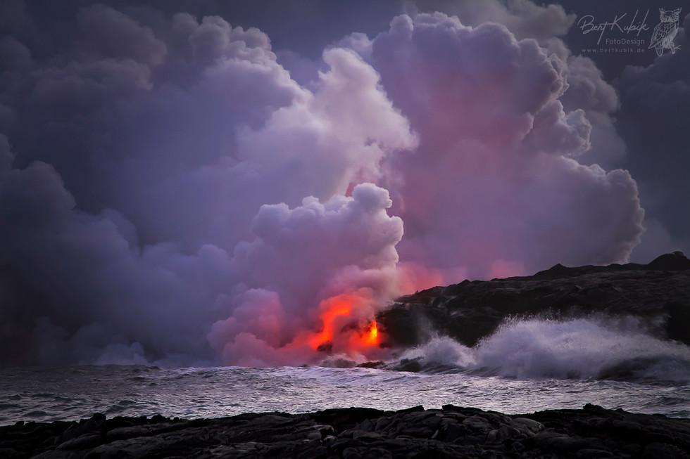 Kalapana Lava Flow - Touristen Point auf Big Island