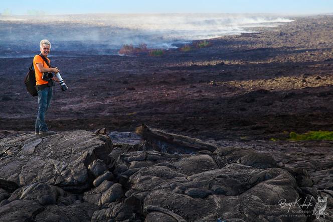 Tief in den Lava-Feldern bei Kalapana