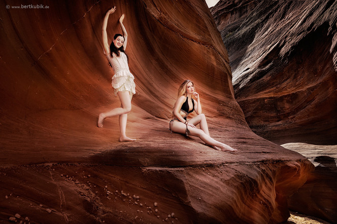 Waterholes-Canyons bei Page / Utah mit Rebecca und Aline