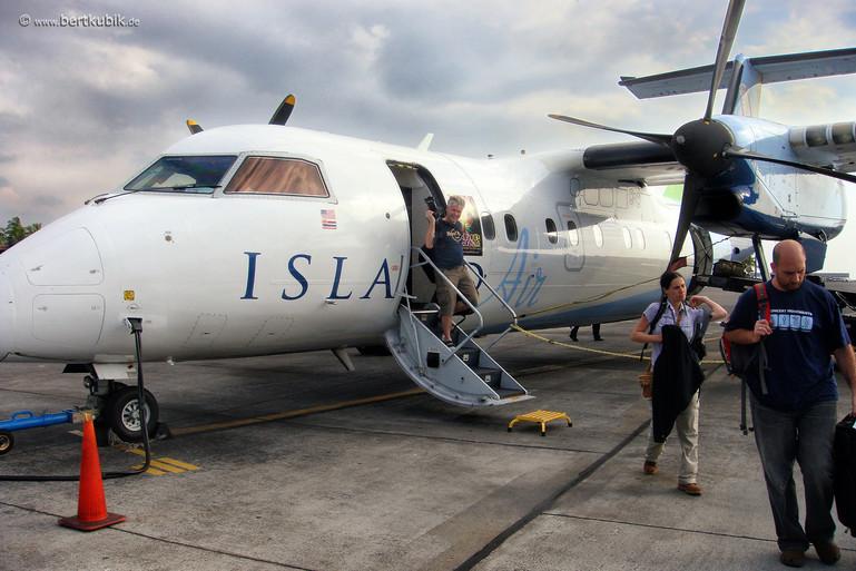 Landung auf Big Island
