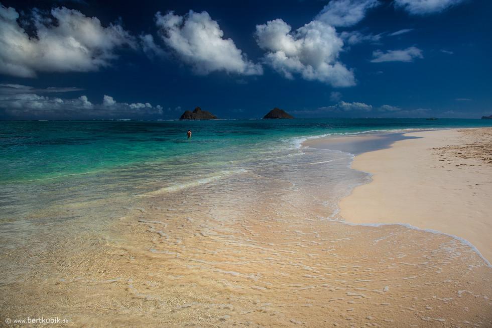 Lanikai Beach bei Kailua auf Oahu