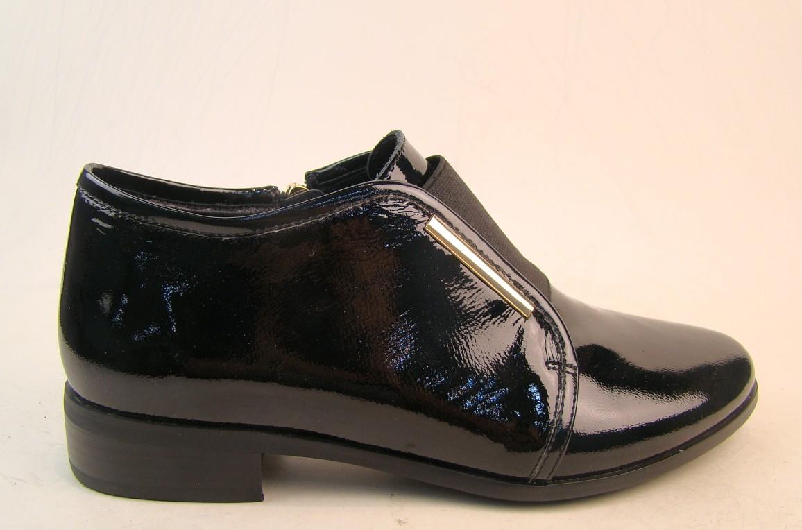 Туфли, р.35-40, нат.кожа, лак, расширенная полнота, цена-6230р, спец.цена-5380р.