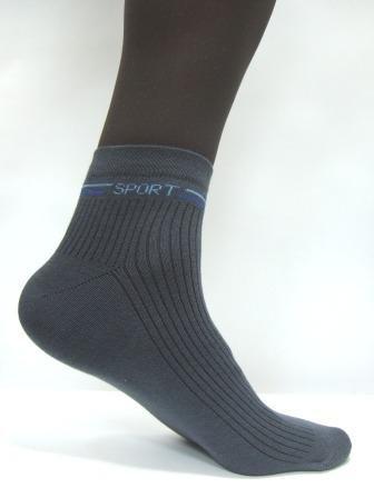 Носки спортивные, р.23-29, цвет-синий, серый, черный, хб-90%
