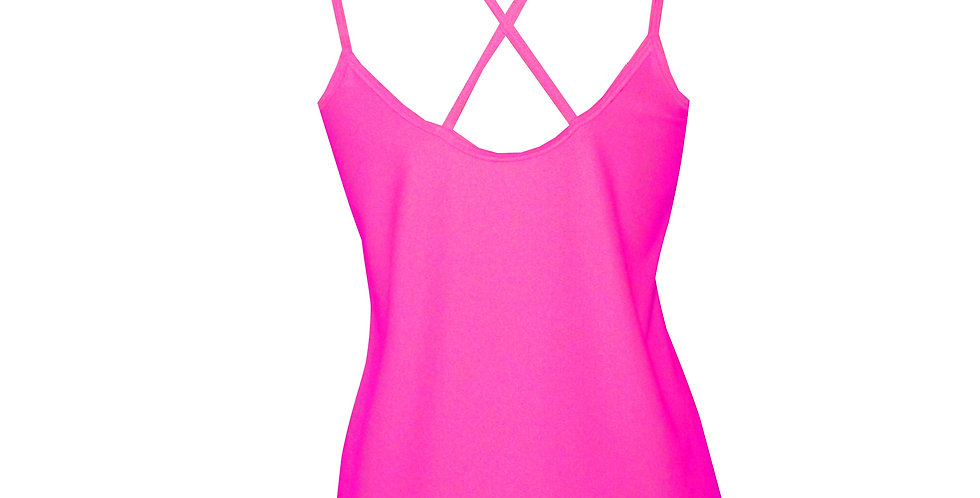 Rhapso Designs Activewear Hot Pink Sports Tank Top TK28 back view