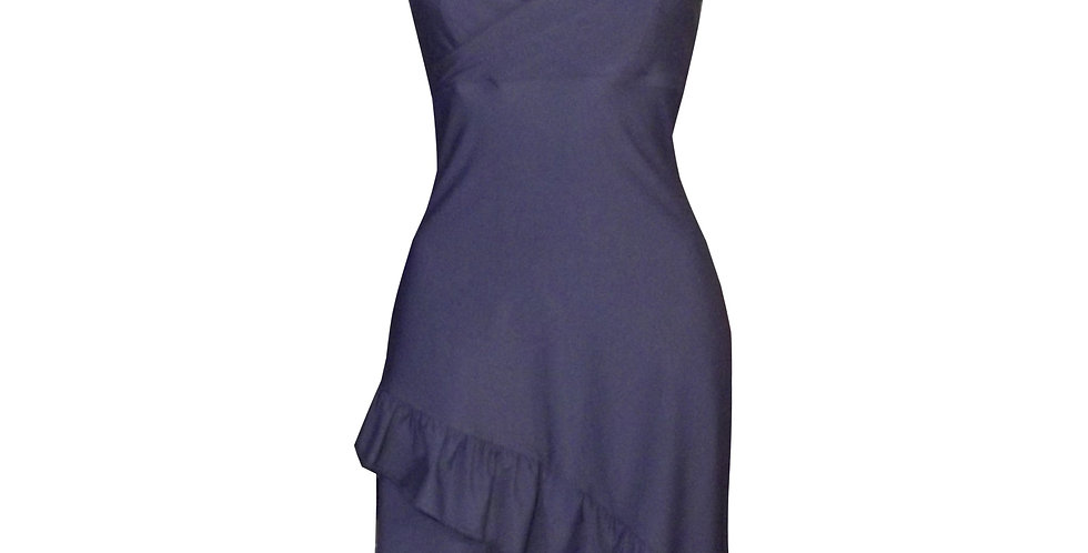 Navy Blue Frilly 3/4 cocktail dress DR21