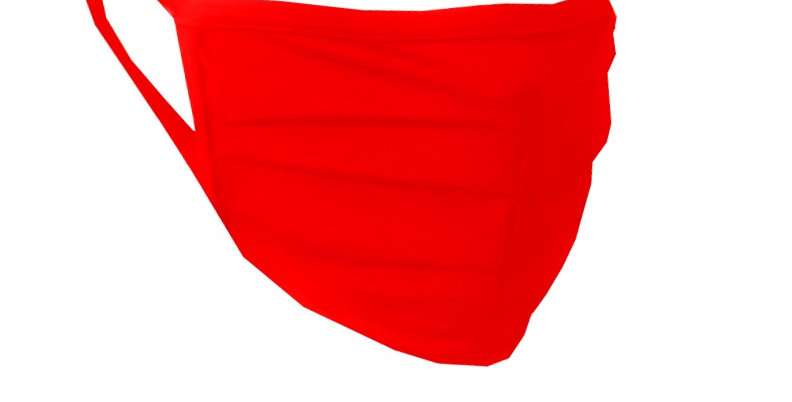 Reusable Fabric Mask in red