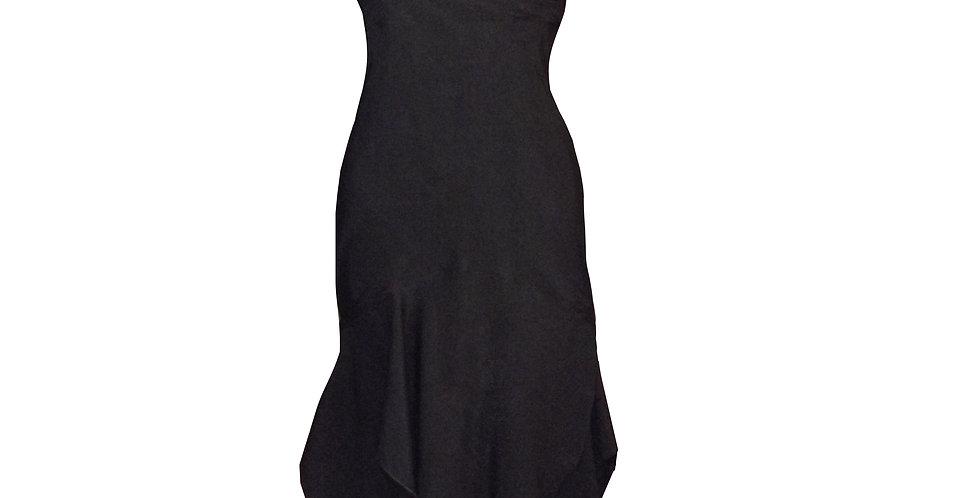 Rhapso Designs Eveningwear Australian Made handkerchief cocktail dress front view