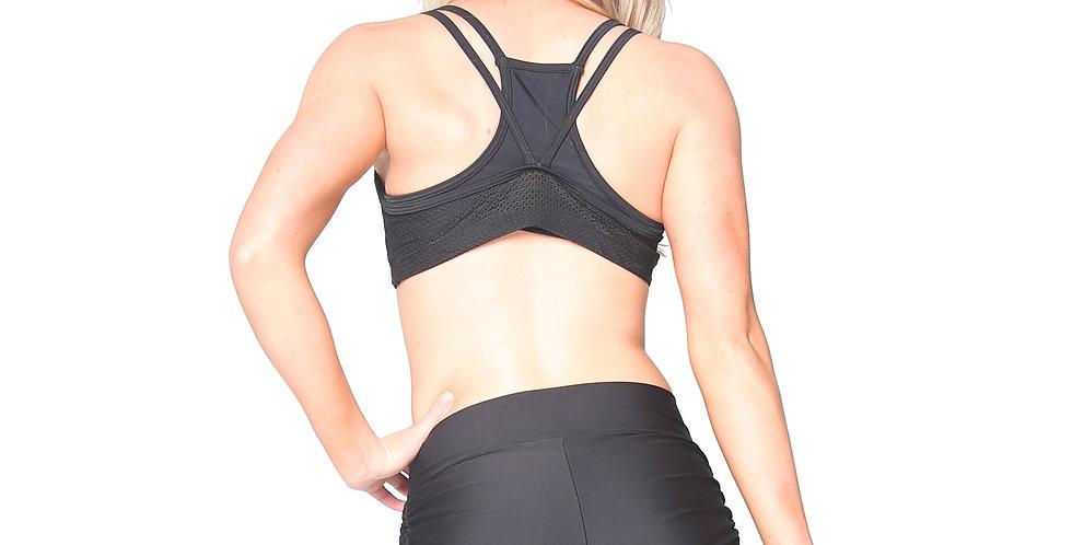Rhapso Designs Activewear Sports Mesh Crop Top BK134 back view