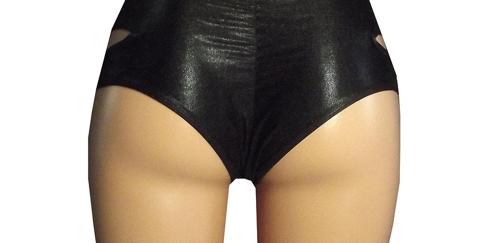 Rhapso Designs Sparkle Black Pole Shorts SH26spk back view