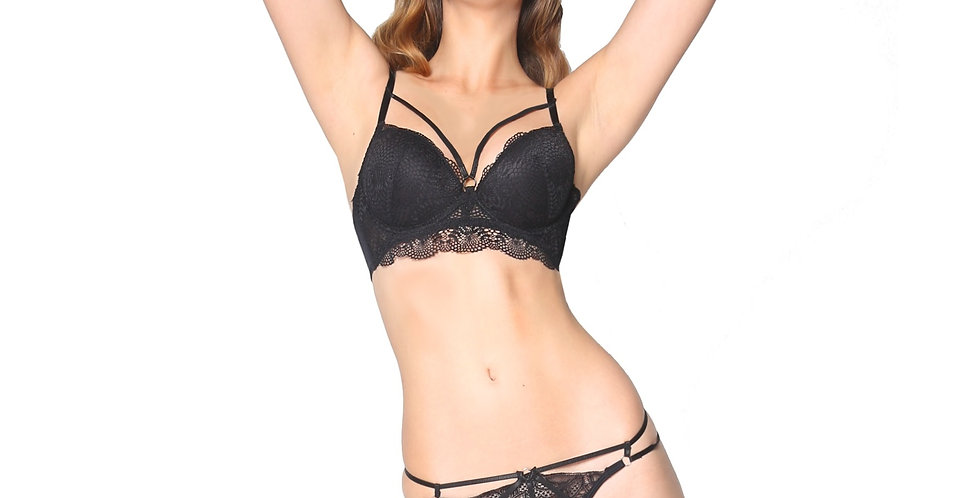 Rhapso Designs Kourtney Strappy Lace Bra front view