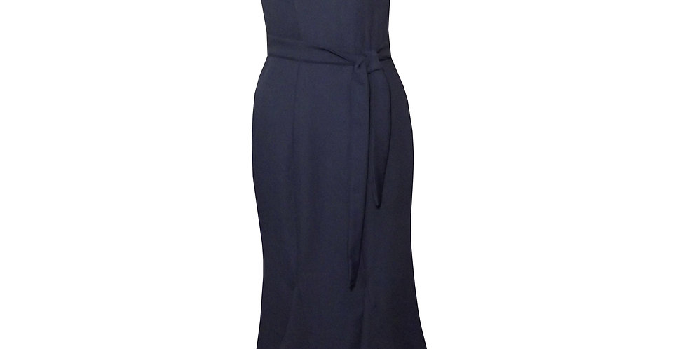 Rhapso Designs Mermaid Cocktail Dress in navy blue DR35 front view