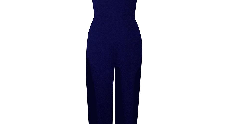 Rhapso Designs Princess cut jumpsuit in navy blue JS11NB front view