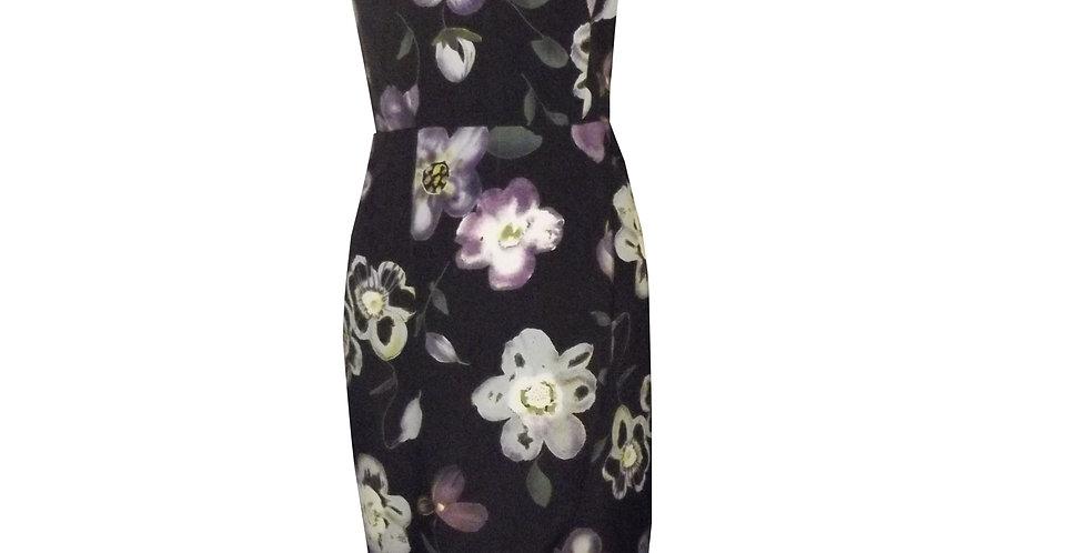 Rhapso Designs Fashion idi tulip wrap dress in floral print DR60B front view