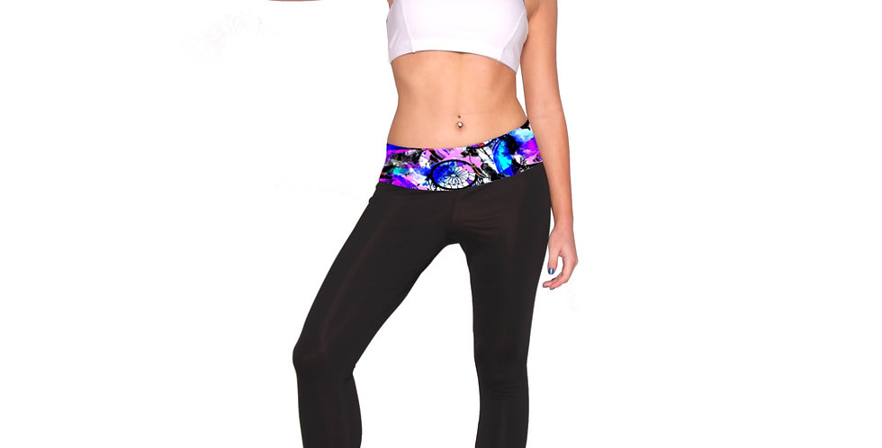 PT01P667 Dreamcatcher Print Band Sportswear Leggings