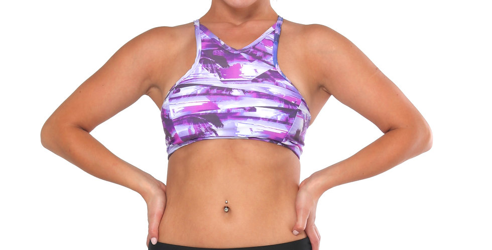Fold Over dance Shorts by Rhapso Designs  Activewear front view