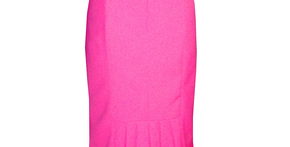 Rhapso Designs Officewear Workwear  Fitted hot ink skirt in hot pink back view