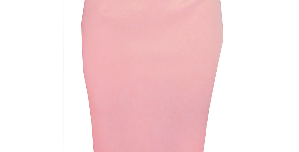 Fitted Bum Midi Skirt  in pink SK4