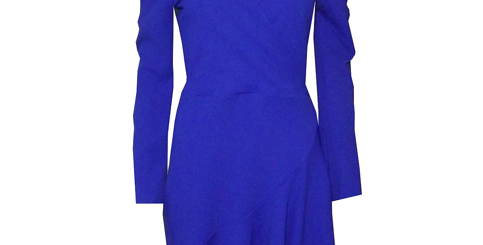 Rhapso Designs Bell Sleeve Faux Wrap Mini Cocktail Dress DR52 front view