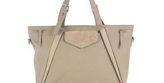 Rhapso Designs Jaws Tan Leather Handbag front view