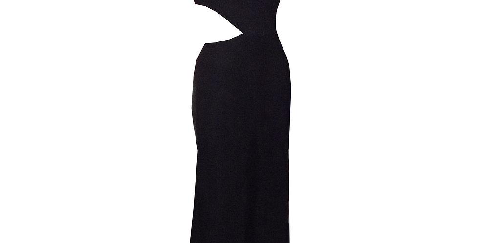 Rhapso Designs Evening wear Cutout Halter Cocktail Dress side view