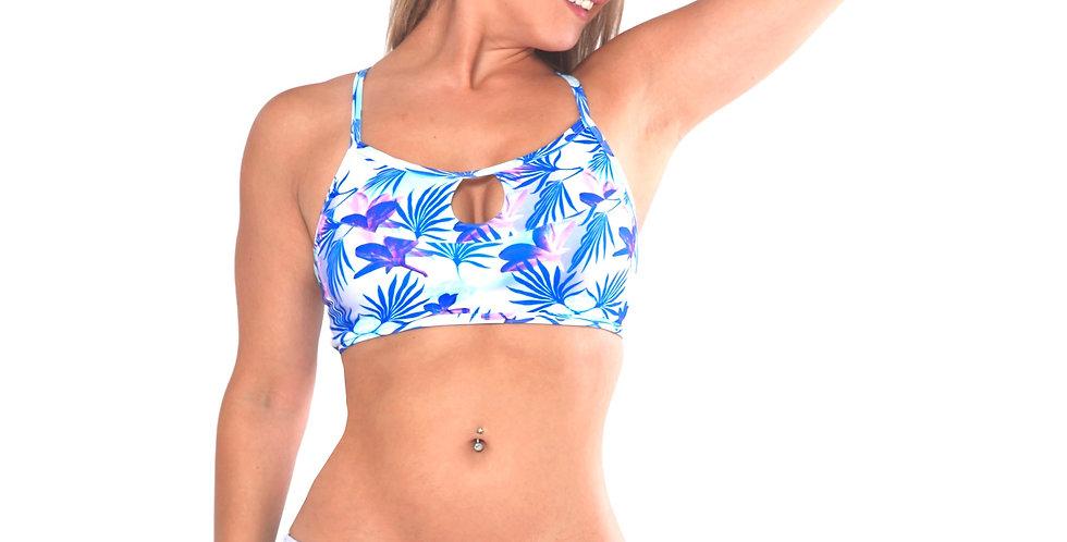 Rhapso Designs Tropical Print bikini bottoms front view