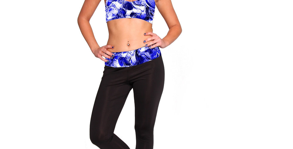 PT01P440 Diamond Print Band Leggings by Rhapso Designs Activewear made in Australia