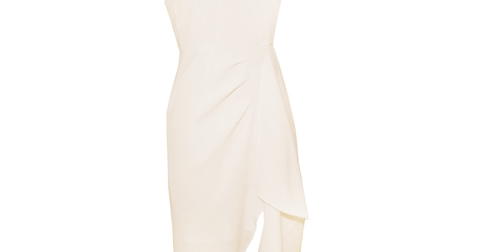 Rhapso Designs Peachy Pink Origami Wrap Dress DR27 side view