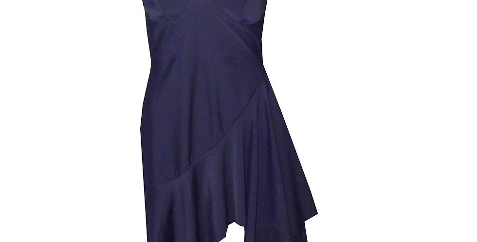 Rhapso Designs Hanky Mini Cocktail Dress in Navy DR51 front view
