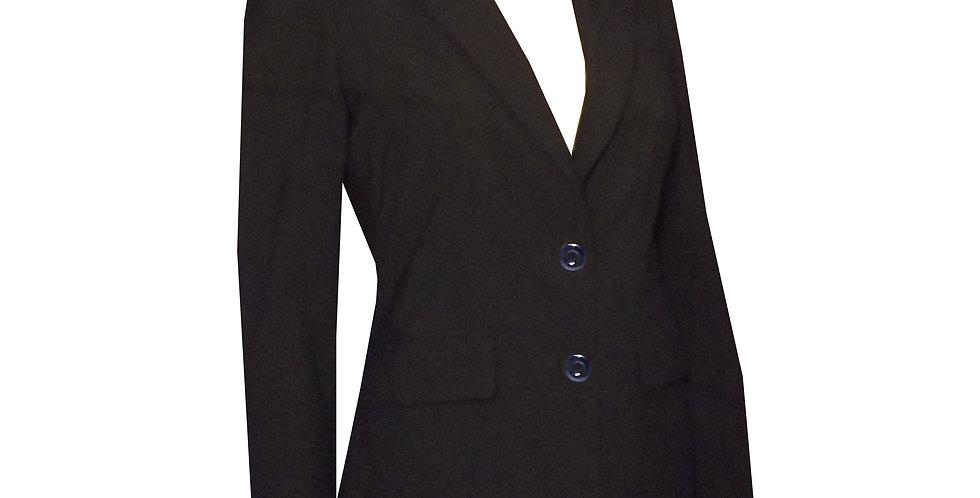 Rhapso Designs Officewear Fitted Suit Jacket in black. Australian Made.  JK2 side view